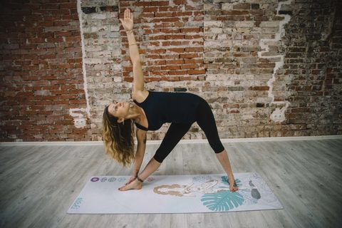 Коврик для йоги Harmony White  178*61*0,3 см из микрофибры и каучука