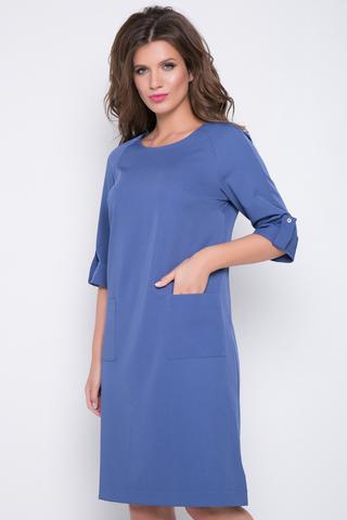 <p>Современное платье для любительниц строгих, но ярких образов. Накладные карманы. По бокам разрезы.&nbsp;</p> <p><span>(Длина: 46=97см; 48=97см; 50=98см; 52=98см;)</span></p>
