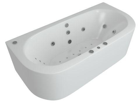Ванна акриловая Aquatek Морфей 190х90см. на каркасе и сливом-переливом.