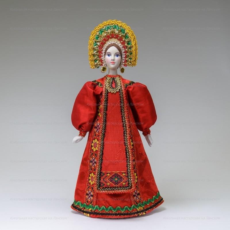 рисунок куклы в русских народных костюмах картинки ходить