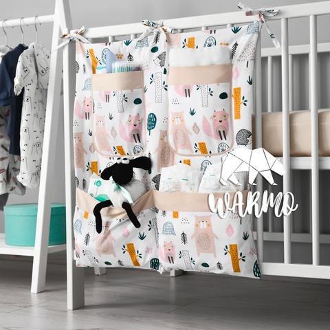 органайзер на ліжечко з малюнком з лісом і звірями фото