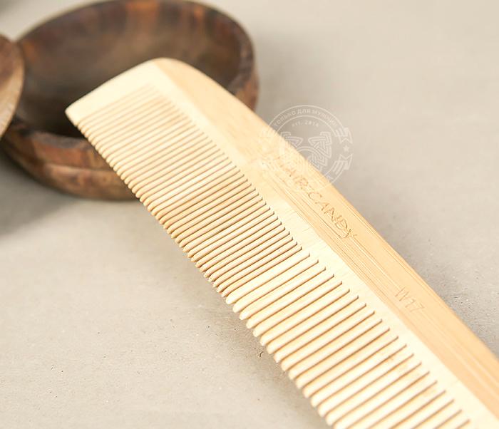 RAZ228 Крупная расческа из клееного дерева разных пород фото 03
