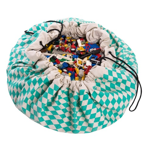 Коврик-мешок для игрушек (2 в 1) Play&Go Print ЗЕЛЕНЫЙ БРИЛЛИАНТ 79958