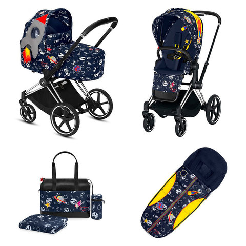 Набор Cybex Priam Lux III FE Space Rocket by Anna K chrome black