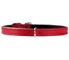 Ошейник для собак Hunter Tiny petit 21 (13,5-17,5 см), кожа, красный