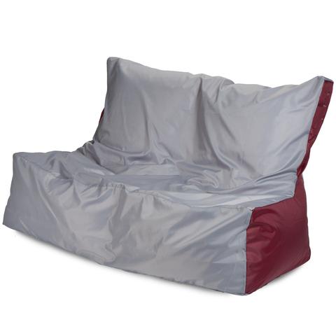 Бескаркасное кресло «Диван», Серый и бордовый