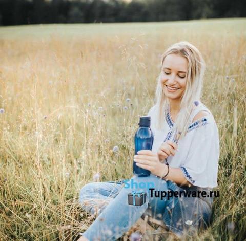 Бутылка Эко 500мл с клапаном Tupperware в темно-синем цвете