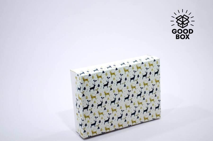 Подарочная новогодняя коробка купить в Алматы