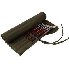 Пенал-свиток для кистей, 22 отделения, цвет хаки