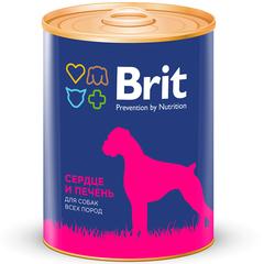 Brit Premium HEART&LIVER Сердце и печень, консервы для собак, 850г