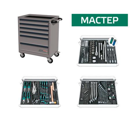 Инструментальная тележка с комплектом инструмента МАСТЕР