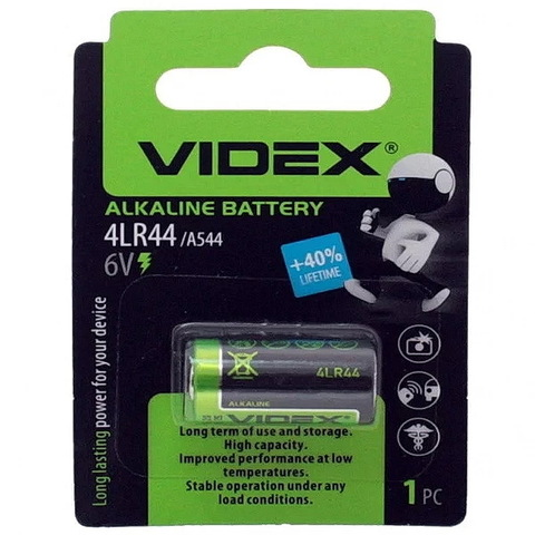 Батарейки Videx 4LR44/A544, 6V (1/10)
