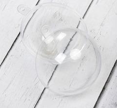 Шар прозрачный пластиковый, разъемный, 1 шт.