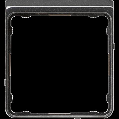 Внешняя цветная рамка. Цвет Чёрный металлик. JUNG CD PLUS. CDP82SWM