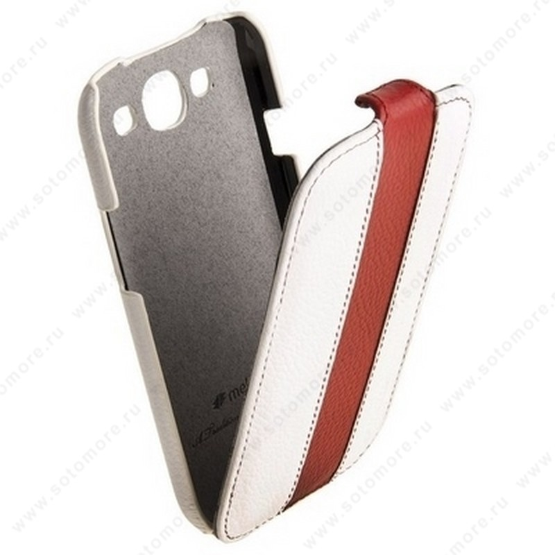 Чехол-флип Melkco для Samsung Galaxy S3 i9300 Limited Edition Jacka Type (White/Red LC)