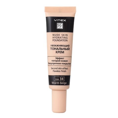 VITEX Тональный крем Увлажняющий NUDE SKIN HYDRATING FOUNDATION т.34 Warm beige