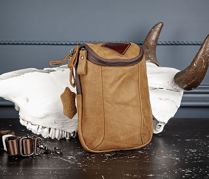 GEDEON, Поясная сумка из натуральной кожи песочного цвета gedeon поясная сумка из натуральной кожи песочного цвета