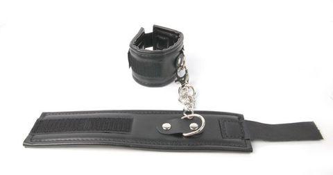 Черные наручники на липучке
