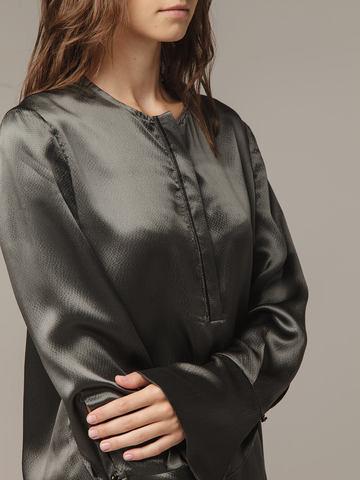 Женская темно-серая блузка из 100% шелка - фото 2