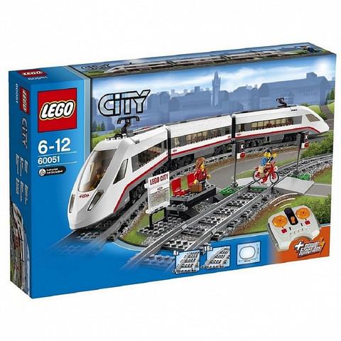LEGO City: Скоростной пассажирский поезд 60051 — High-speed Passenger Train — Лего Сити Город
