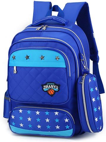 Рюкзак школьный Ziranu 0655 Синий + Пенал