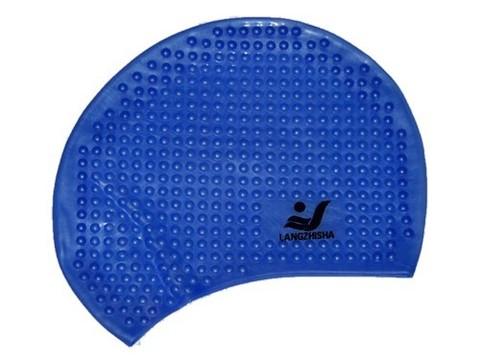 Шапочка для плавания ( с пузырьками). Материал: силикон. Полиэтиленовая сумочка на молнии :(LZS-88):