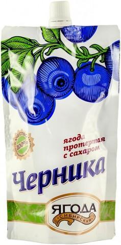 """Черника протертая с сахаром """"Сибирская ягода"""" ГОСТ 280 г"""