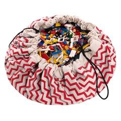 Коврик-мешок для игрушек (2 в 1) Play&Go Print КРАСНЫЙ ЗИГЗАГ 79962