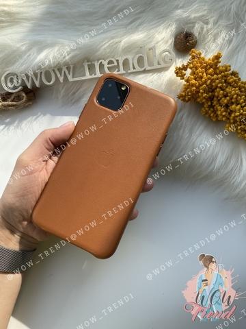 Чехол iPhone 11 Pro Max good Leather Case /saddle brown/