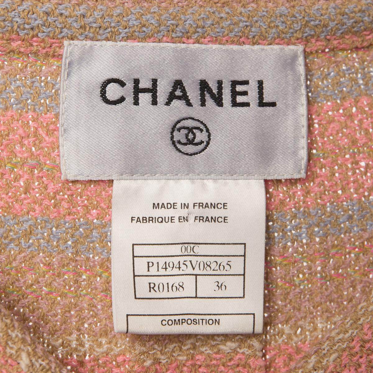 Элегантное платье нежно-розового цвета от Chanel, 36 размер.