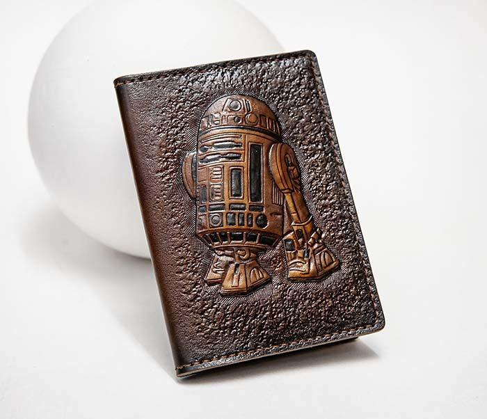 BC225 Обложка на паспорт «Звездные Войны. R2D2» ручной работы