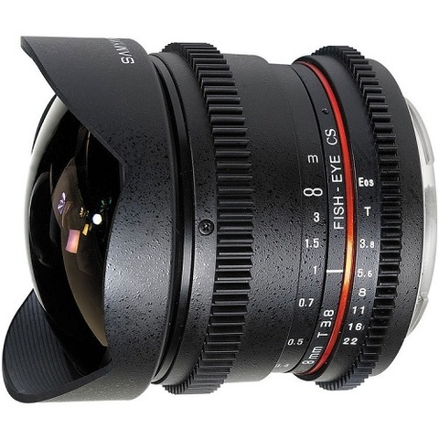Объектив Samyang 8mm T3.8 IF AS MC CS VDSLR Fisheye Black для Canon