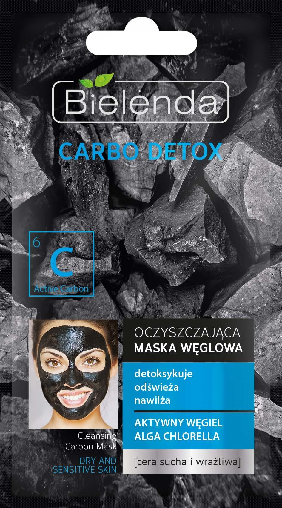CARBO DETOX Очищающая маска для сухой и чувствительной кожи, 8 г