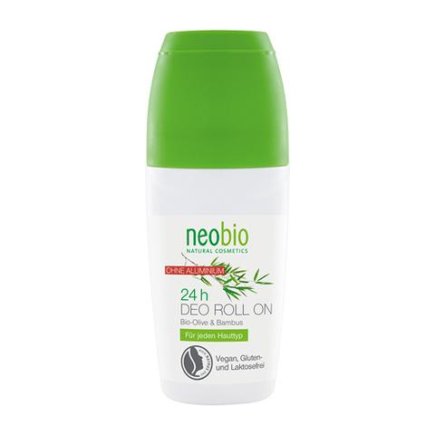 NEOBIO дезодорант шариковый 24 часа с био-оливой и бамбуком 50 мл