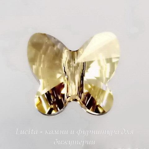 5754 Бусина в виде бабочки Сваровски Crystal Golden Shadow 8 мм