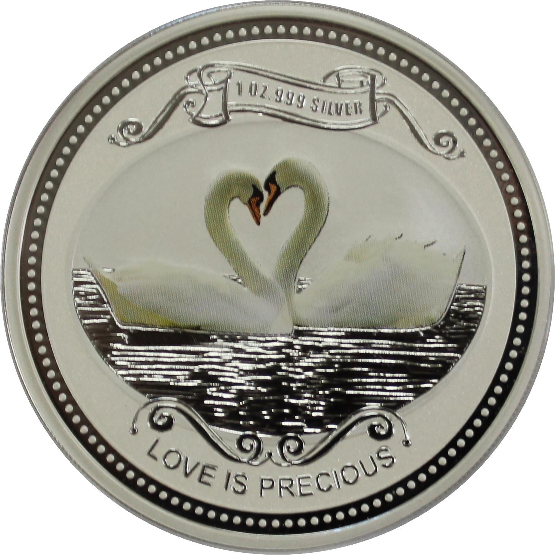 2 доллара 2008 год. Драгоценная любовь. Лебеди — о. Кука