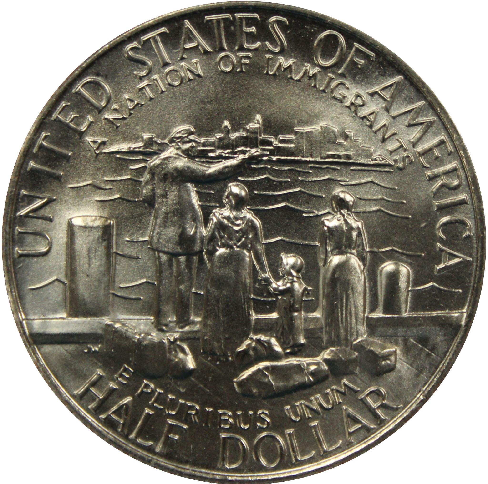 1/2 доллар 1986 (D). США UNC (Нация иммигрантов). Медь с плакировкой