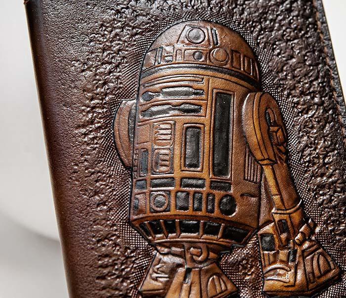 BC225 Обложка на паспорт «Звездные Войны. R2D2» ручной работы фото 03
