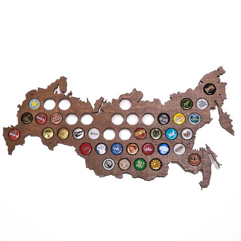 Карта для пивных крышек «Beer Bank», венге