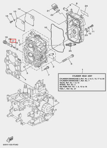 Анод для лодочного мотора F20 Sea-PRO (4-17)