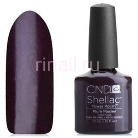 CND Шеллак 7,3 мл, Plum Paisley фиолетово-сливовый