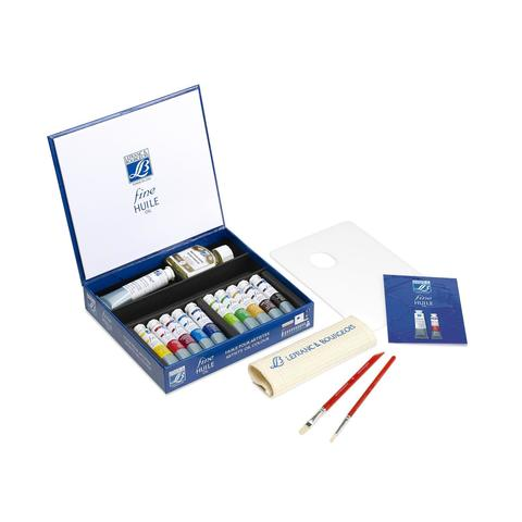 Набор масляных красок Lefranc&Bourgeois  FINE HUILE (10 х 20 мл, белила 1 х 40 мл)