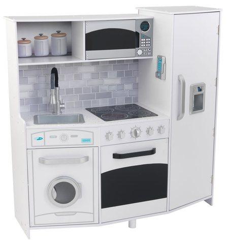 KidKraft Интерактив (белая) - большая детская кухня 53369_KE