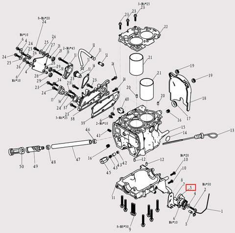 Рычаг управления дроссельной заслонкой для лодочного мотора F9.8 Sea-PRO (3-5)