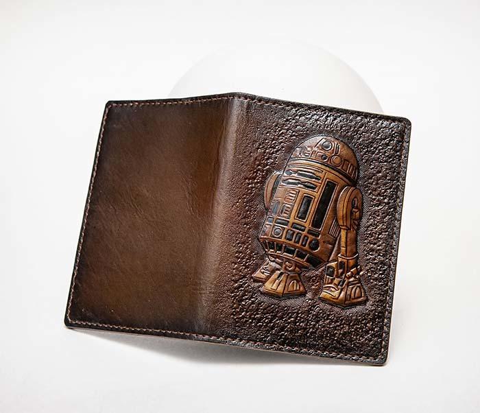 BC225 Обложка на паспорт «Звездные Войны. R2D2» ручной работы фото 05