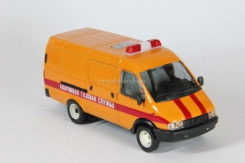 GAZ-2705 Gazelle van Emergency Gas service early facing Agat Mossar Tantal 1:43