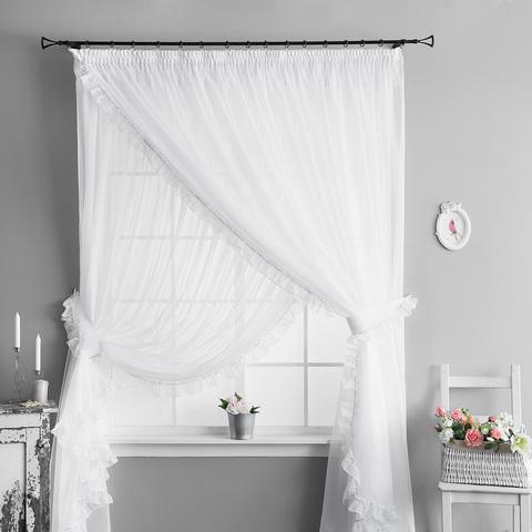 Легкие шторы Феерия  белый