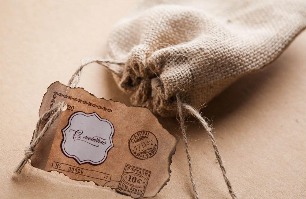 Крафт-пакет Почта для упаковки мыла