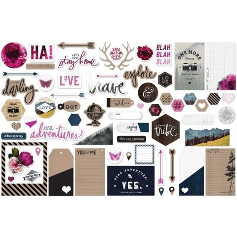 Высечки для фольгирования -Heidi Swapp Hawthorne Ephemera Die-Cuts - Minc