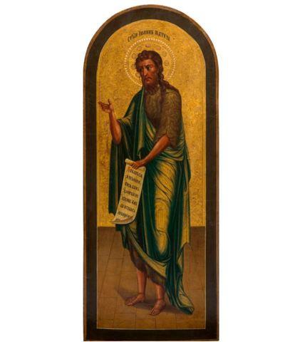 Икона святой Иоанн Предтеча на дереве на левкасе мастерская Иконный Дом